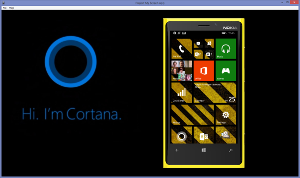 ProjectMyScreenLumia