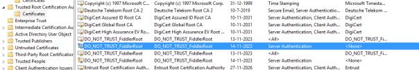 Fiddler Root CA